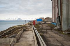 Stock Photo of Abandoned street in Barentsburg, Svalbard