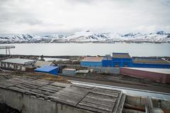 Stock Photo of Heavy industry in Barentsburg, Russian settlement in Svalbard