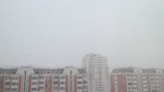 Real snow falling Stock Footage