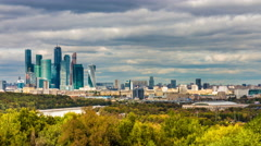 Stock Video Footage of Moscow city skyline in autumn