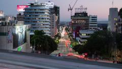 Hollywood  California timelapse Stock Footage