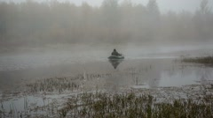 Man in a boat Stock Footage