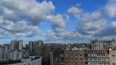 City landscape in Moscow Russia, timelapse Stock Footage