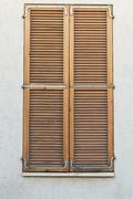 beautiful vintage shutters - stock photo