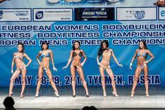 Women Bodyfitness championship in Tyumen. Russia - stock photo