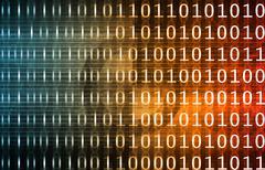 Binary Technology Stream Stock Illustration