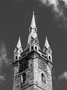 Black Tower in Klatovy Stock Photos