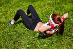 Training outdoors - stock photo