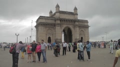 A typical day at Gateway of India. Stock Footage