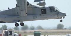MCAS Miramar Airshow MAGTF Demo Osprey Landing - stock footage