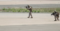MCAS Miramar Airshow MAGTF Demo Marines Boots on the Ground Stock Footage