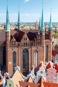 Gdansk. Top view. Stock Photos