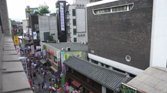 Busy Pedestrian Street Insa-dong Seoul South Korea Stock Footage