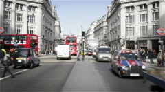 Time lapse traffic, Oxford Circus, London - stock footage