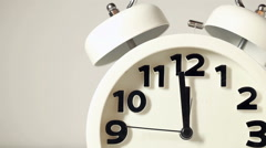 White alarm clock - stock footage