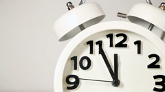 White alarm clock - stock footage