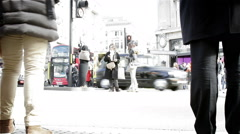 Time lapse: Bleached London shoppers - stock footage