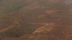 Aerial view of Rajasthan's agricultural lands Stock Footage