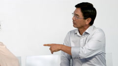 Irritated couple facing relation difficulties Stock Footage