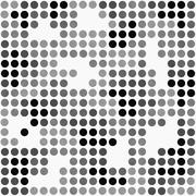 Gray and White Polka Dot Mosaic Abstract Design Tile Pattern Repeat Backgroun - stock illustration