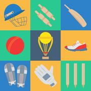 Cricket game vector concept. - stock illustration