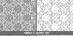 Arab tiles seamless pattern - stock illustration