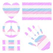 Stock Illustration of Intersex pride design elements.