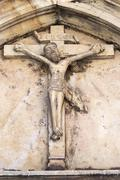 Architectural detail - Crucifixion - Jesus Christ on the Cross Stock Photos