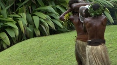 Fiji Tribesman Fire Walkers Carrying a dead man Stock Footage