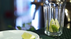 Ingredients For A Mojito Cocktail Stock Footage