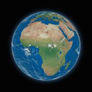 Africa on planet Earth - stock illustration