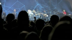 Audience at a concert Stock Footage
