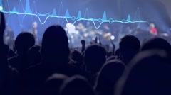 Slo-mo of clapping at a concert Stock Footage