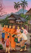 Stock Photo of Thai mural painting art