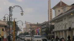 Busy road in centre,Bandung,Java,Indonesia Stock Footage