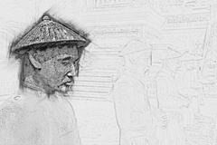 Tomb of Khai Dinh emperor in Hue, Vietnam Stock Illustration