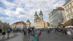 Church of Our Lady before Týn in Old Town Square, Prague Stock Footage