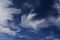 High-altitude clouds - stock photo