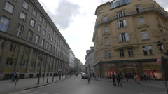 Tourists walking on Celetna street in Prague Stock Footage