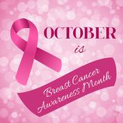 Breast Cancer Awareness month Stock Illustration
