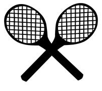 Tennis Rackets Stock Illustration