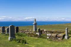 Kilmuir Graveyard View - stock photo