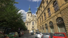Church of St Gall or Church of St Havel, Prague - stock footage