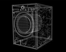 washing machine simbol - stock illustration