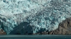 Greenland Prince Christian Sound 082 close shot of amazing glacier Stock Footage