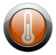 Icon, Button, Pictogram Temperature Stock Illustration