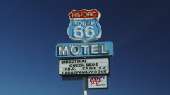 Motel Route 66 Sign in Seligman Stock Footage