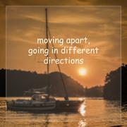 Moving apart, Going in different direction Stock Photos