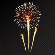 Fireworks festive  bursting sparkling vector - stock illustration