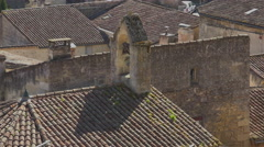 The bell tower of the Roman church Stock Footage